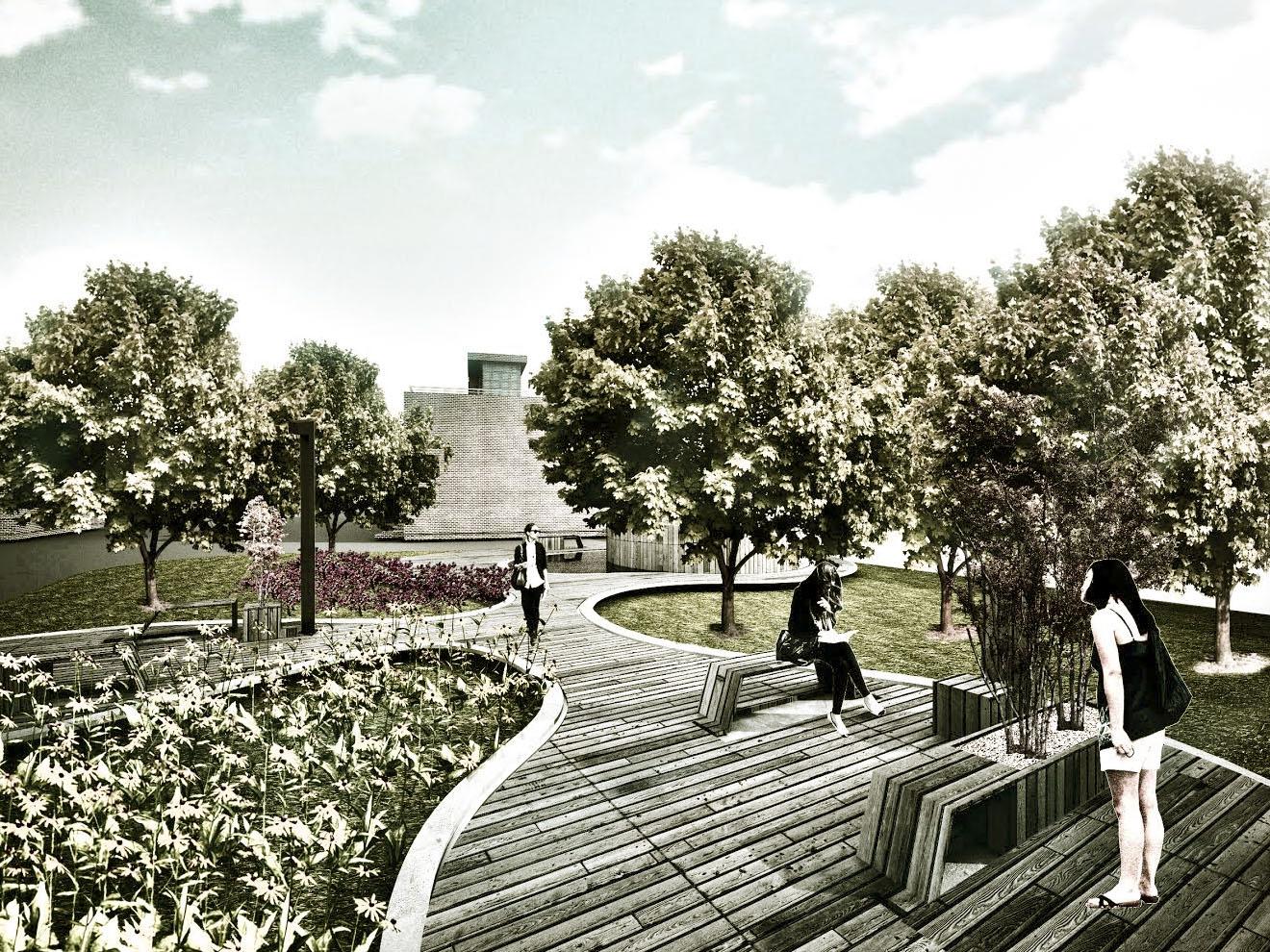 Парк в КП в Новой Москве